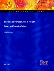 Public and Private Roles in Health - World Bank