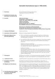 Generelle Informationen nach §1 VVG - InfoV