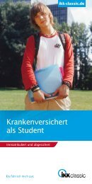 Krankenversichert als Student - IKK classic
