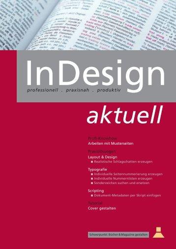 """Leseprobe aus dem Praxishandbuch """"InDesign Aktuell"""" vom MEV ..."""