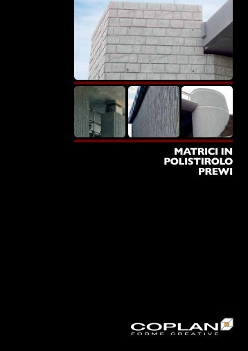 MATRICI IN POLISTIROLO PREWI - Edilportale