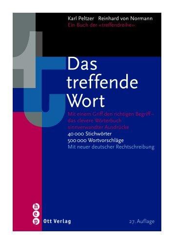 Das treffende Wort - Ott Verlag