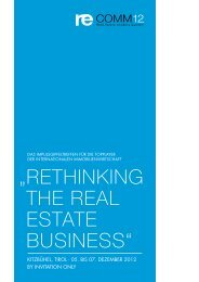 """ RETHINKING THE REAL ESTATE BUSINESS"" - re.comm 12"