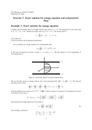 Exercise 7: Exact solution for energy equation and ... - KTH Mechanics