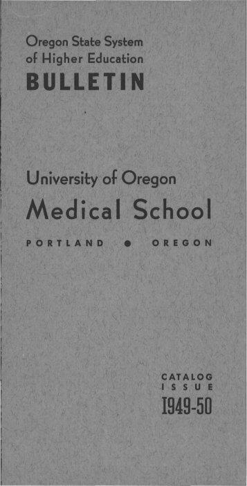 Medical School - University of Oregon