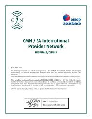 CMN / EA International Provider Network - Work and Travel ...