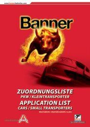 ZUORDNUNGSLISTE APPLICATION LIST