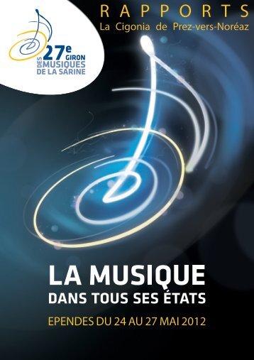 R A P P O R T S - Giron musiques 2012