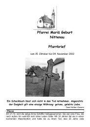 Pfarrbrief Pfarrei Nittenau