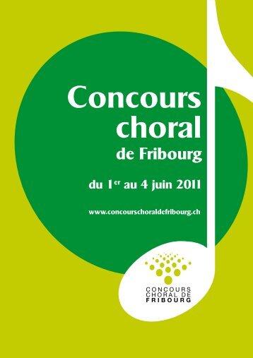 Le programme - Concours choral de Fribourg