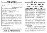 IL TESORO NASCOSTO E LA PERLA PREZIOSA - Parrocchia ...