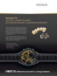Heraenium® Pw Lega CoCr in metallo non prezioso per ... - Heraeus