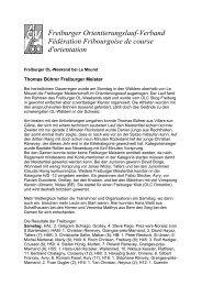 Freiburger Orientierungslauf-Verband Fédération Fribourgoise de ...