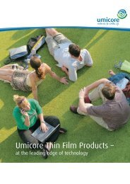 Download our image brochure (PDF 4.3 MB). - Umicore Thin Film ...
