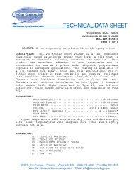 MIL-PRF-85582D Water Reducible Epoxy Primer - Tricom Coatings