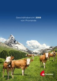 Geschäftsbericht 2008 von Proviande - Proviande Schweizer Fleisch