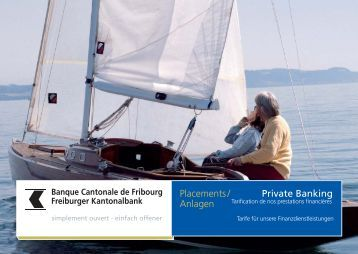 Private Banking - Banque Cantonale de Fribourg
