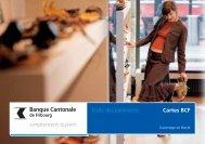 Gamme des cartes BCF - Banque Cantonale de Fribourg