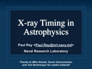Paul Ray  Naval ... - HEASARC - Nasa