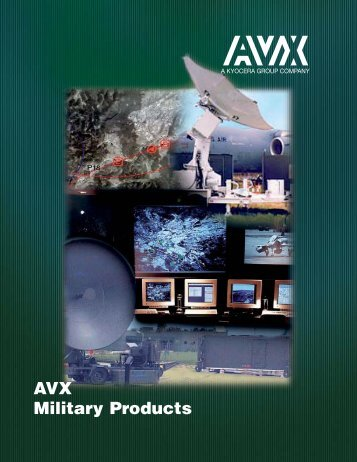 Military Ceramic Leaded Capacitors - AVX