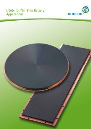 LiCoO2 for Thin Film Battery Applications - Umicore Thin Film Products