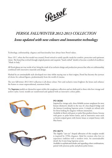 PERSOL FALL/WINTER 2012-2013 COLLECTION