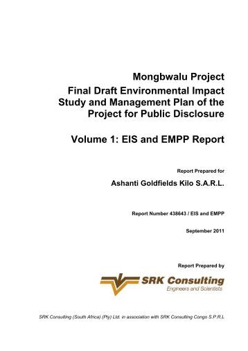 EIS and EMPP Report - SRK Consulting