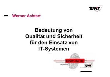 Anforderungen an IT-Systeme - Software Quality Lab