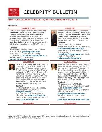 Celebrity Service International LLC