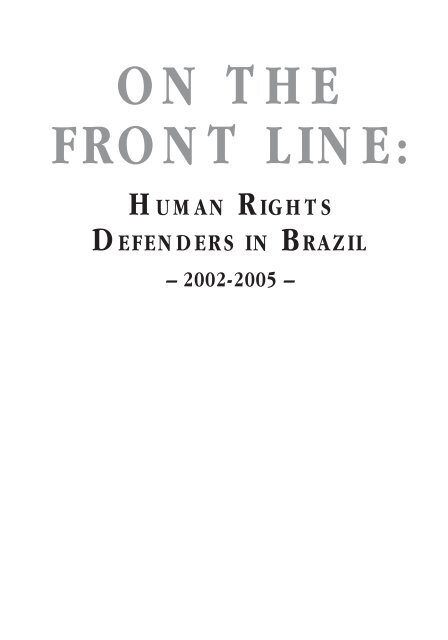 Human Rights Defenders in Brazil - Brazilink