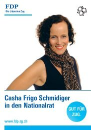 Casha Frigo Schmidiger in den Nationalrat - BPW