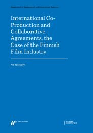 International Co- Production and Collaborative Agreements, the ...