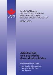 Arbeitsunfall und psychische Gesundheitsschäden - Deutsche ...