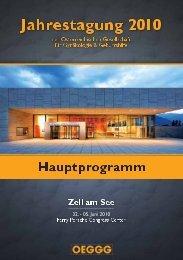 Wissenschaftliches Programm Freitag 04. Juni 2010 - Mondial ...