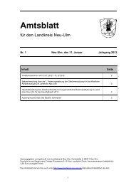 Amtsblatt Nr. 1 vom 11. Januar .2013 (571.70 - Landkreis Neu-Ulm