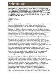 Marian Füssel / Thomas Weller (Hg.): Ordnung und ... - Sehepunkte