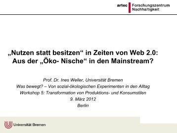 Prof. Dr. Ines Weller, Universität Bremen