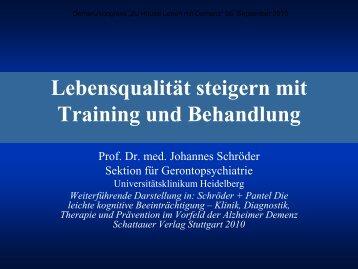 Lebensqualität Steigern Mit Training Und Behandlung
