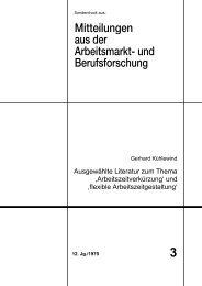 Ausgewählte Literatur zum Thema ,Arbeitszeitverkürzung' und ... - iab