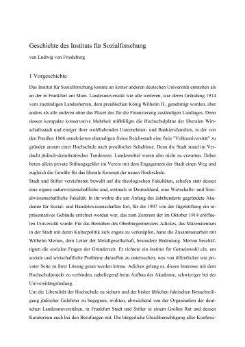 Fassung ohne Bilder - Institut für Sozialforschung Frankfurt am Main ...
