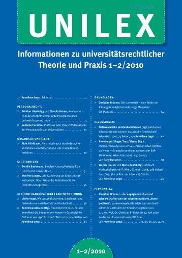 Informationen zu universitätsrechtlicher Theorie und Praxis 1 ... - ULV