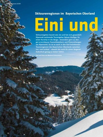 Skitouren im Bayerischen Oberland - Deutscher Alpenverein