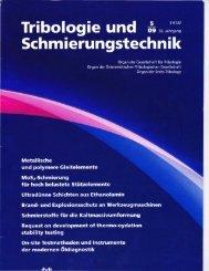 Tribologie und Schmierungstechnik - IAP/TU Wien