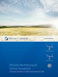 Produktbroschüre - TecnoSun Solar Systems AG