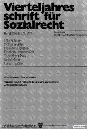 Sozialpolitische Probleme des ... - ISF München