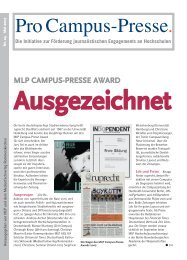 MLP CAMPUS-PRESSE AWARD - Pro Campus-Presse.