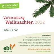 Vorbestellung Weihnachten 2012 - beyond content GmbH