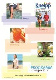 klicken: Programm Kneipp Verein Bad Schwalbach 1