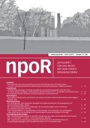 npoR Heft 3/2011 - Zeitschrift für das Recht der Non Profit ...