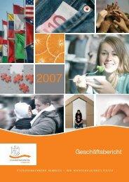 Geschäftsbericht 2007 - Studierendenwerk Hamburg